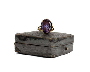 18ct ring Amethyst