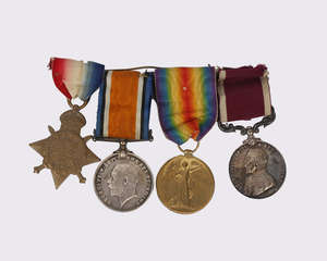 A collection of four World War I medals to include Long Service and 1914 Star to 4396 Sgt H.Tadd Somerset Light Inf plus two World War I medals to 4396 W.O CL2 H.Todd Somerset Light Inf.